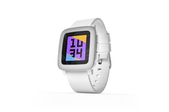 Pebble Time White išmanusis laikrodis