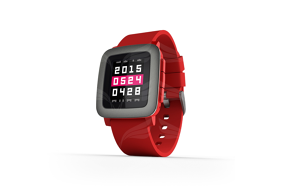 Pebble Time Red išmanusis laikrodis