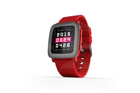 Pebble Time Red išmanusis laikrodis