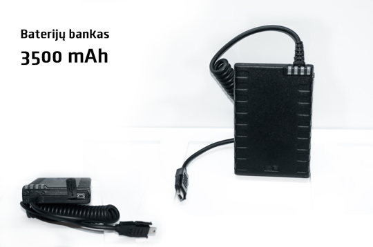 PowerBank baterijų bankas 3500mAh GoPro kameroms / mini USB 12pin
