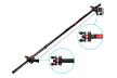 Joby gervė / Action Jib Kit & Pole Black/Red