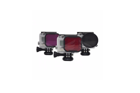 PolarPro HERO4/3/3+ Standart Housing (Snorkel, Red, Magenta) 3-filtrų rinkinys