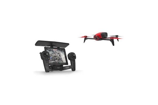 Bebop 2 raudonas orlaivis su pultu / Bebop 2 Red drone with Skycontroller