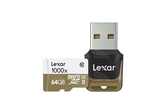 Lexar 64GB microSDHC UHS-II 1000x with USB Reader (Class 10) U3