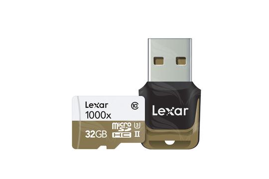 Lexar 32GB microSDHC UHS-II 1000x with USB Reader (Class 10) U3