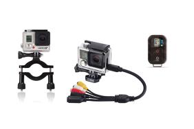 GoPro valdymo pultelis / WiFi Remote + Rollbar laikiklis + Combo Laidas