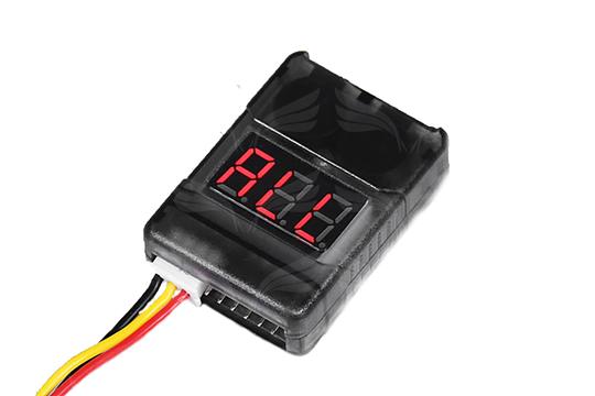 Hobbyking 2-8S Celių stebėjimo įrenginys su žemo voltažo aliarmu