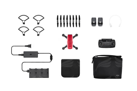 DJI Spark Lava Red - Fly More Combo