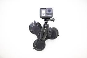 RAM Komplektas skirtas GoPro kameroms (trigubas vakuminis laikiklis)