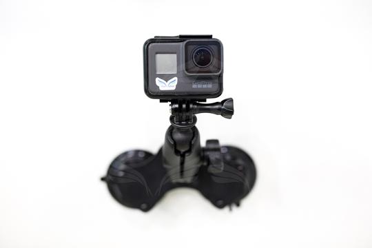 RAM Komplektas skirtas GoPro kameroms (dvigubas vakuminis laikiklis)