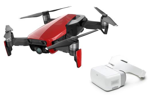 DJI Mavic Air Fly More Combo dronas Liepsnos Raudonumo spalvos / Flame Red + GJI Goggles