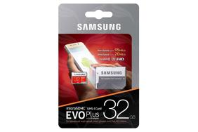 Samsung EVO Plus UHS-I 32 GB, MicroSDHC atminties kortelė su adapteriu